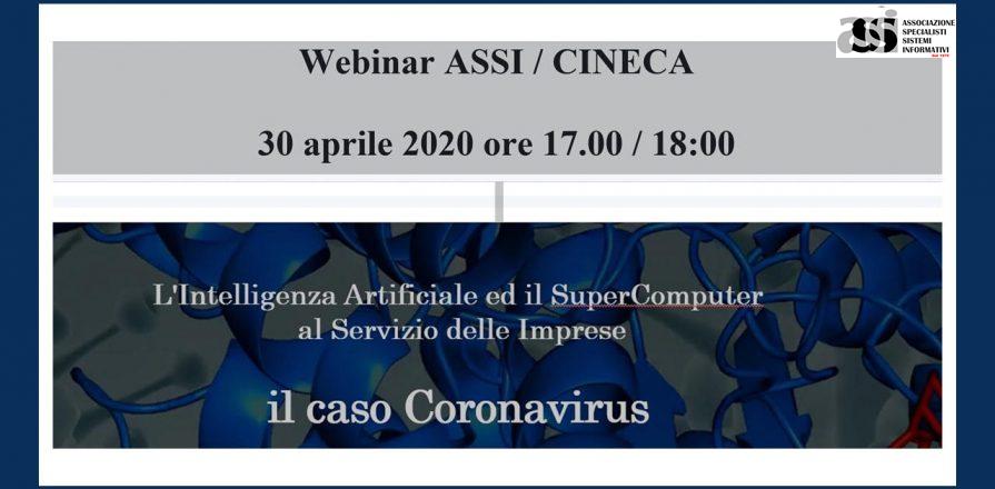 30 Aprile – ASSI – L'Intelligenza Artificiale ed il  supercomputer. Il caso Coronavirus